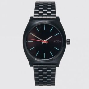 NNIXON Men's The Time Teller Watch 37mm All Black